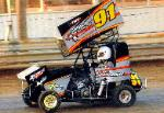 Tony Chiruck in his #91 600cc Microsprint car
